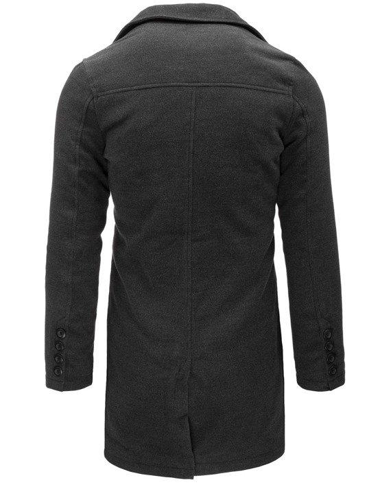 męski płaszcz kolor antracytowy